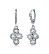 RelavenO Sterling Silver Elegant Dangle Earrings