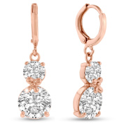 Adoriana Rose Gold Over Brass Double Hoop Earrings