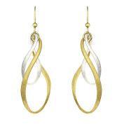 Jayden Star Isla Simone - Two-Tone Bi-Elliptical Large Diamond Cut Earring