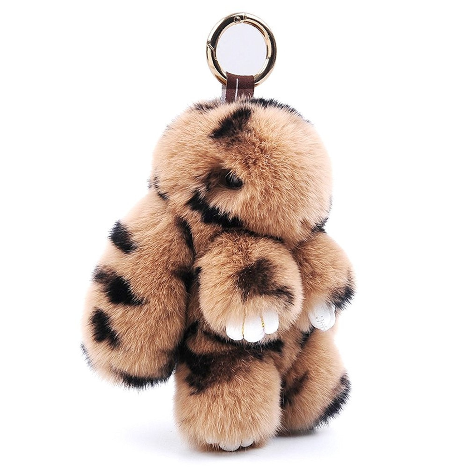 80Store 13CM Fluffy Rabbit Keychain Cute Lovely Nature Fur Bunny ... 9a51928c7
