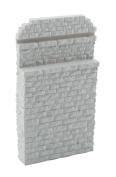 Walthers HO Scale Single-Track Railroad Bridge Stone Abutment - Resin Casting