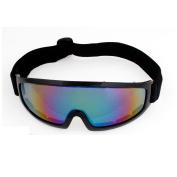 Unisex Outdoor Sports Colourful Lens Black Rim Ski Goggles Eyeglasses Eyewear