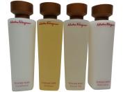 Salvatore Ferragamo Tuscan Soul Travel Set Shampoo Lotion Conditioner Shower Gel