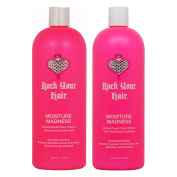 "Rock Your Hair Moisture Madness Shampoo & Conditioner 1000ml Duo ""Set"""