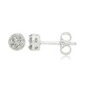 14K White Gold 0.50 CCTW Diamond Fashion Earring