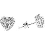 Keepsake Tenderness 1/3 Carat T.W. Certified Diamond 10kt White Gold Heart Earrings