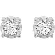Miracle Plate 1/2 Carat T.W. Diamond 10K Gold Earrings