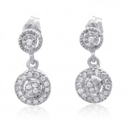 10K White Gold 0.25 CTTW Diamond Fashion Earring
