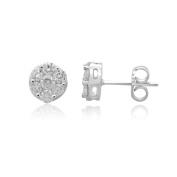 14K White Gold 1.00 CCTW Diamond Fashion Earring