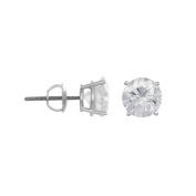 14K White Gold 1/2 Carat Diamond Stud Earrings