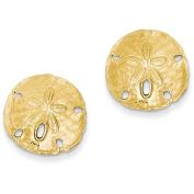 14k Large Sanddollar Post Earrings