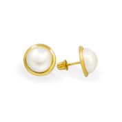 14K Yellow Gold Screwback Earrings