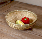 Bread tray storage basket,Bamboo fruit basket bowl stand compote for entertainment events displaying-C D12.6*H4.7inch