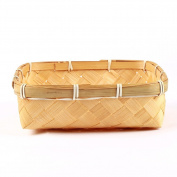 Bread tray storage basket bamboo food serving baskets -A L8*W8*H2.4inch