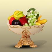 Longless Beige resin crafts fruit plate ornaments European style fruit plate