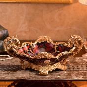 Longless European-style retro resin fruit bowl creative home dried fruit bowl ornaments
