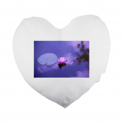 Lotus, Natural, Water, Meditation, Zen Heart Shaped Pillow Cover
