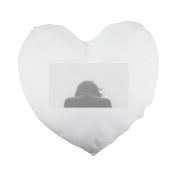 Sad, Depressed, Depression, Sadness Heart Shaped Pillow Cover