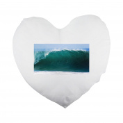 Ocean, Wave, Sea, Water, Tide, Tidal Heart Shaped Pillow Cover
