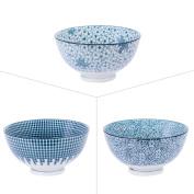 9.5 cm Cup Porcelain Assorted Denim by 3