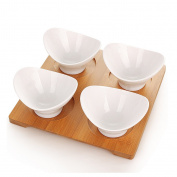 houyuanshun Creative Ceramic Fruit Plate Snack Plate Modern Living Room Fashion Coffee Table Fruit Bowl Nut Dish Simple Large Fruit Bowl