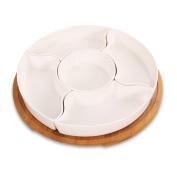 houyuanshun Creative Fruit Plate Fashion Ceramic Snack Plate Home Modern Small Fruit Plate Fruit Bowl