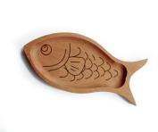DingSheng Beech wood Hand Crafts Solid wood Fish modelling Salad Bowls Wood Bowls Natural Wood Food Serving Bowls