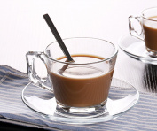 JIANGU, a coffee cup suit, a glass coffee cup, a heat-resistant cup, a large coffee cup, a small coffee cup.