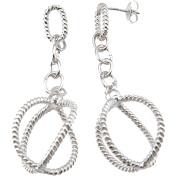 Plutus Sterling Silver Rhodium-Finish Fashion Earrings