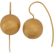 5th & Main 14kt Gold-Plated Satin Finish Ball Earrings