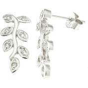 Plutus Sterling Silver Platinum-Finish Fashion Earrings