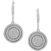 Brinley Co. Women's Sterling Silver CZ Dangle Earrings