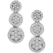 Brinley Co. Women's Sterling Silver CZ Circle Drop Earrings