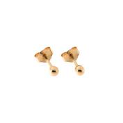 14k Rose Gold Ball Stud Earrings, 2mm