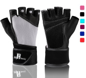 Weightlifting Gloves With Wrist Support - Workout Gloves With Wrist Padding For Lifting Weights, Cross Training, Power Lifting, Gym Gloves, Quality Lifting Gloves