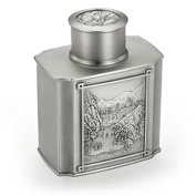 Royal Selangor Hand Finished Cha Collection Pewter Tranquilly Airtight Tea / Coffee Caddy