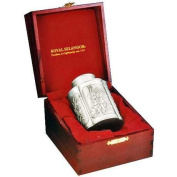 Royal Selangor Hand Finished Four Seasons Collection Pewter Airtight Tea / Coffee Caddy (L) in Wooden Gift Box