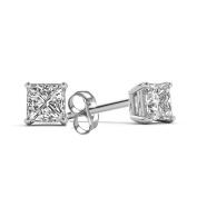 Imperial 1 Carat T.W. Princess-Cut Diamond 14kt White Gold Stud Earrings
