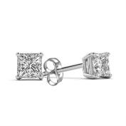 Imperial 3/8 Carat T.W. Princess-Cut Diamond 14kt White Gold Stud Earrings
