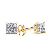 Imperial 1/5 Carat T.W. Princess-Cut Diamond 10kt Yellow Gold Stud Earrings