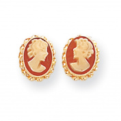 14k Madi K Cameo Post Earrings