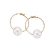 Pearlyta 14k Gold Kids Freshwater Pearl Endless Hoop Earrings