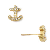 "kate spade new york ""Anchors Away"" Pave Anchor Stud Earring 14k Gold"