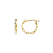 14K Yellow Gold Plain Thin Childrens Huggie Earrings