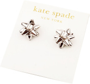 kate spade New York Silver Bourgeois Bow Stud Earrings