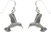 Jewellery Trends Sterling Silver Humming Bird in Flight Dangle Earrings