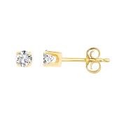 1/5 Ct.t.w Round Diamond Stud Earrings in 14K Yellow Gold