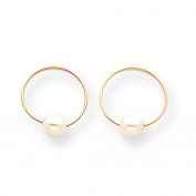 14k Madi K Endless Hoop with FW Cultured Pearl Earrings