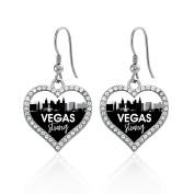 Vegas Strong Cityscape Open Heart Earrings