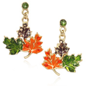 cocojewelry Maple Fall Leaves Dangle Earrings Thanksgiving Halloween Jewellery